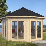 Joan have pavillion i træ og med termoglas. luksus pavillon fra www.solundhuse.dk