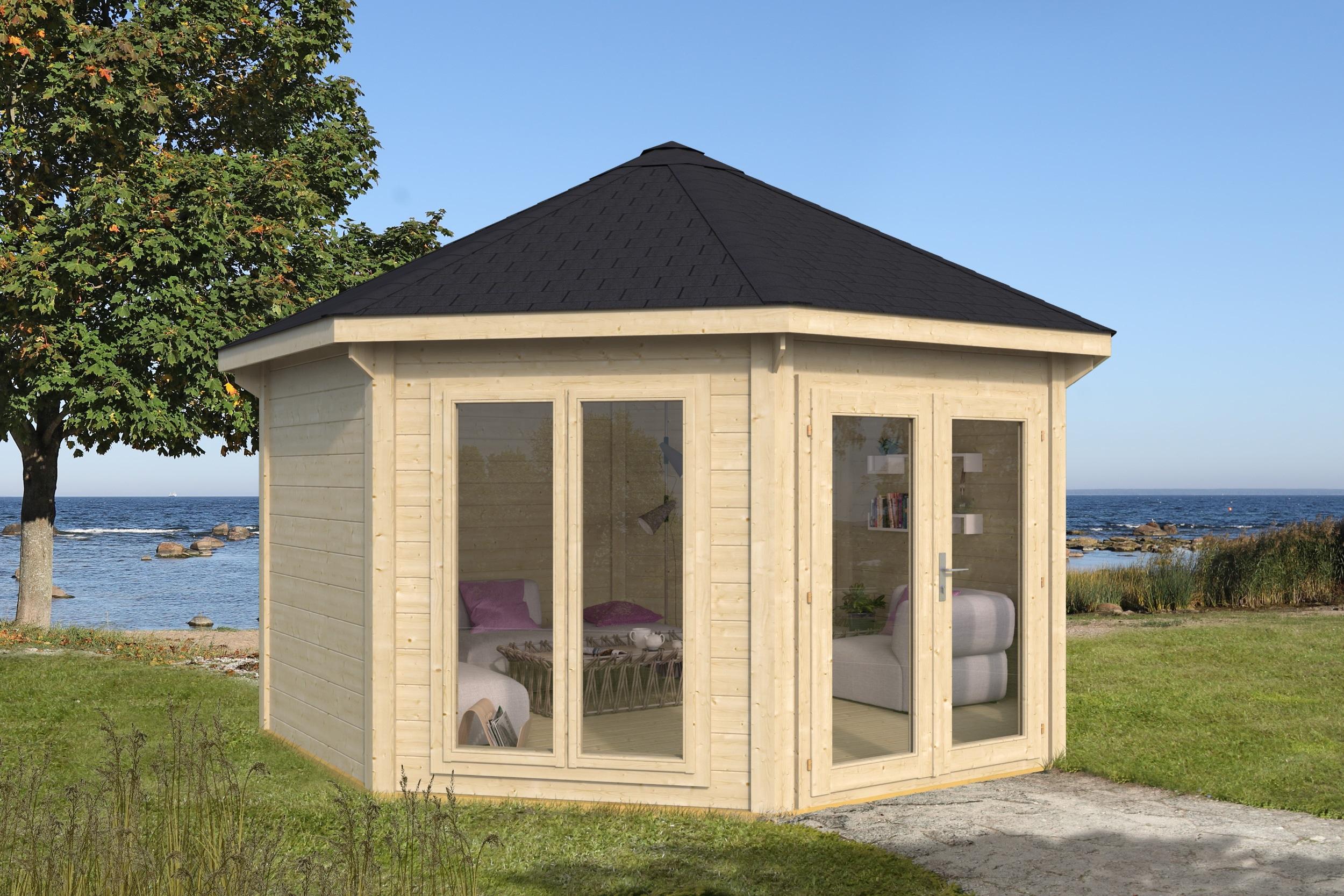 Træ pavillion fra www.solundhuse.dk luksus havepavillion til byg selv