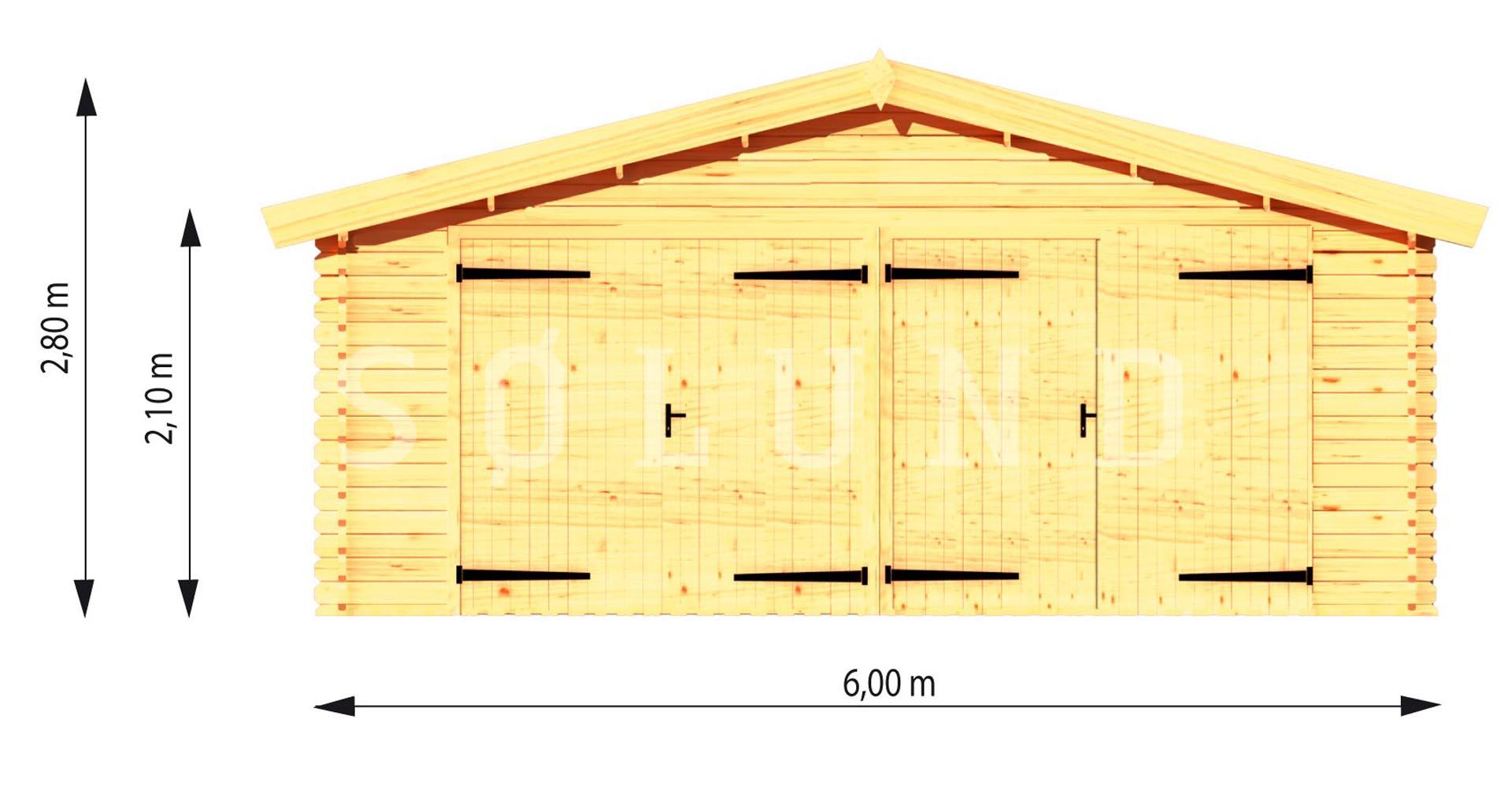 40 m2 garage carport 700 s lund huse s lund huse. Black Bedroom Furniture Sets. Home Design Ideas
