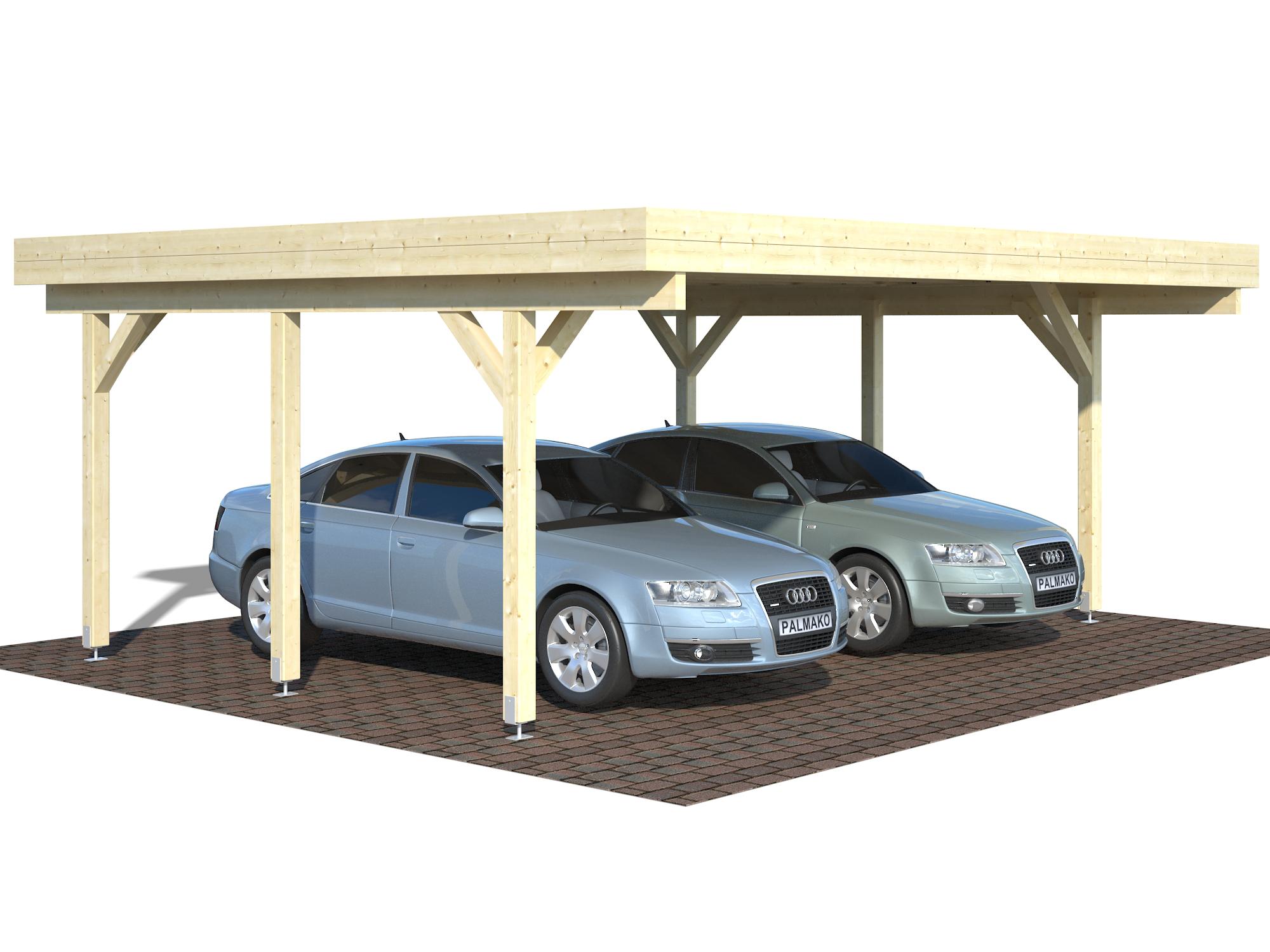 dobbelt carport til 2 biler gratis levering af carporte. Black Bedroom Furniture Sets. Home Design Ideas