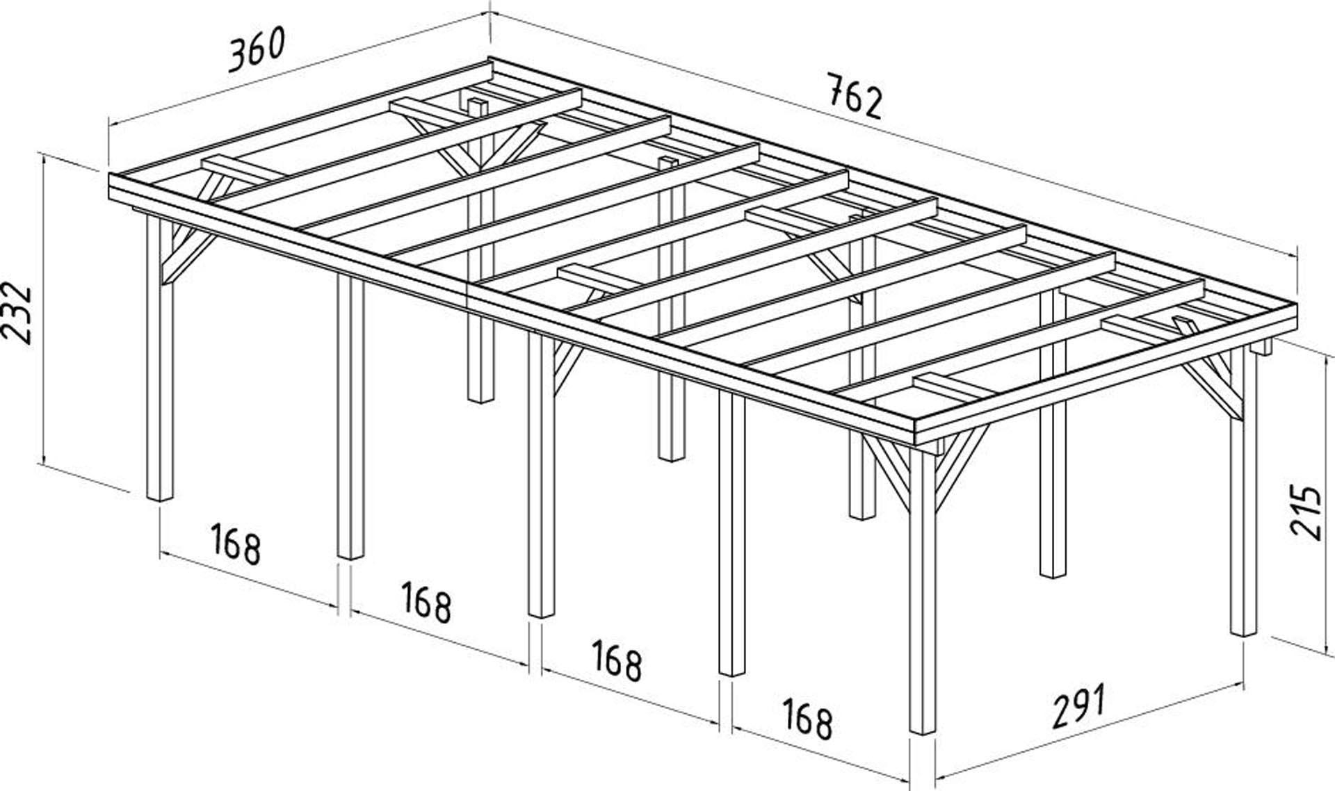 carport i tr lang model carporte i mange st rrelser. Black Bedroom Furniture Sets. Home Design Ideas