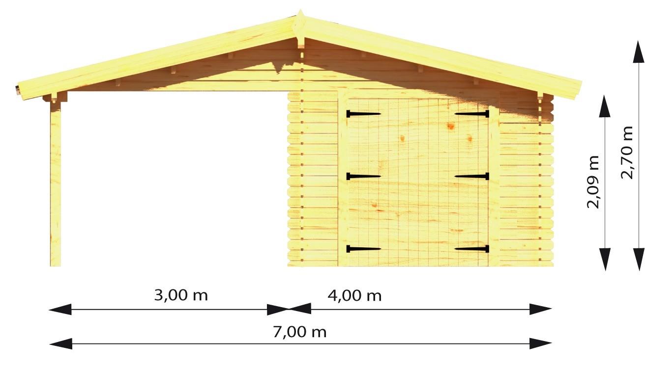 stor garage carport i tr flot og rummelig til en god online pris. Black Bedroom Furniture Sets. Home Design Ideas
