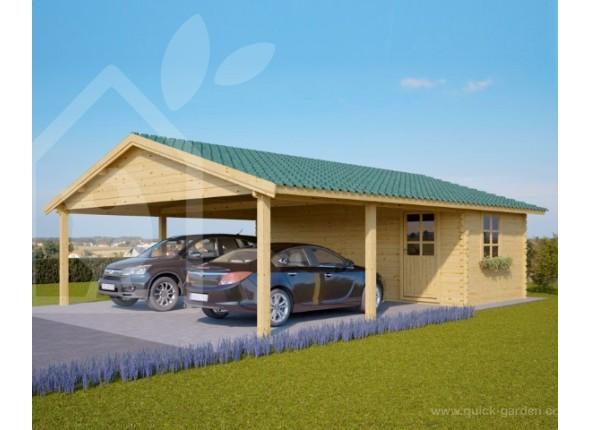 carport dobbelt carport med redskabsrum hans. Black Bedroom Furniture Sets. Home Design Ideas
