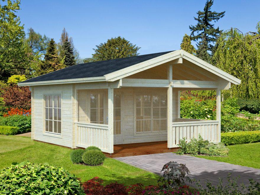 køb bjælkehus med veranda hos www.sølundhuse.dk