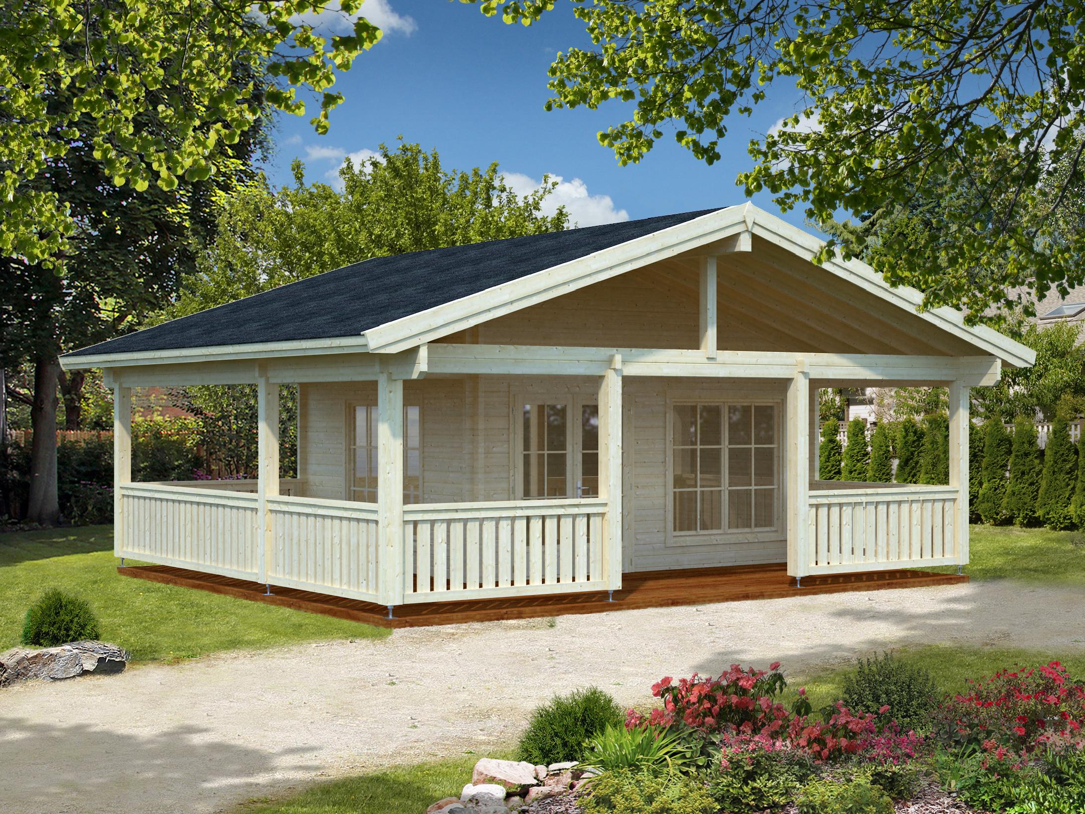 Bj lkehytte med veranda p 28 8m2 se vores store udvalg - Camping toilette fur gartenhaus ...