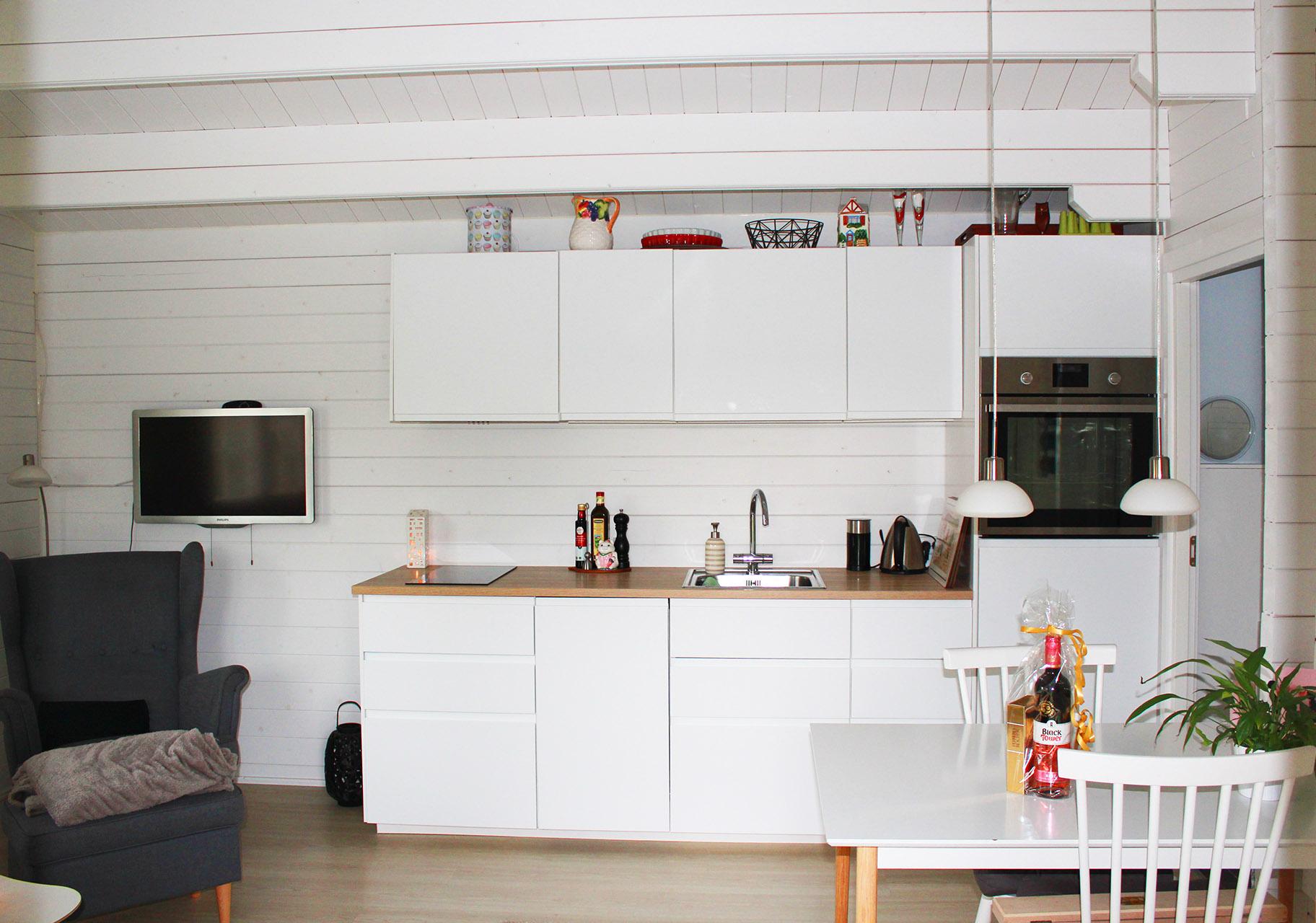 Annelise bjælkehus fra sølundhuse.dk køkken billede iindsendt af kunde fra viby