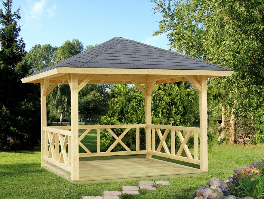 smuk åben pavillon i træ fra solundhuse.dk