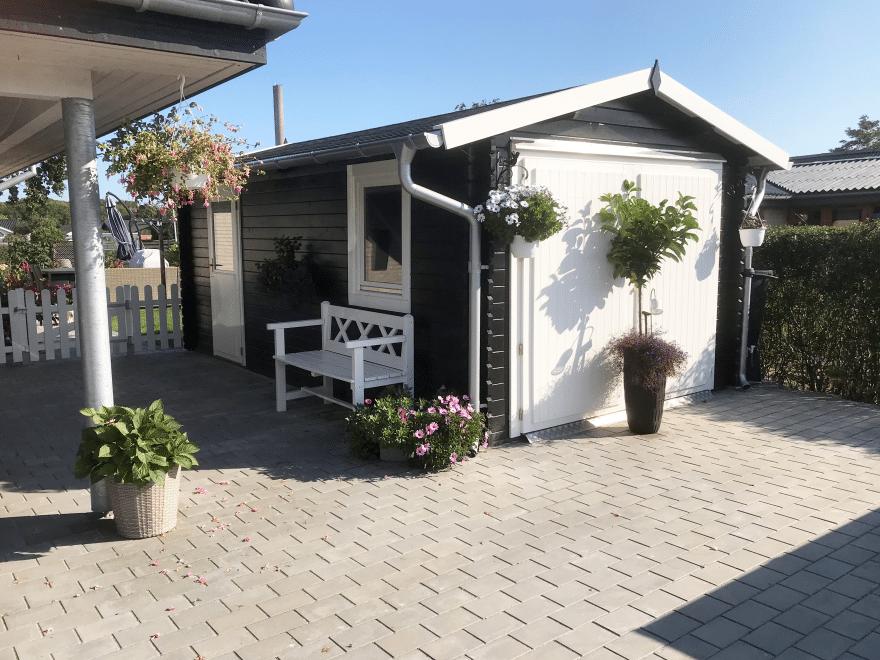 bil garage i træ fra sølund huse