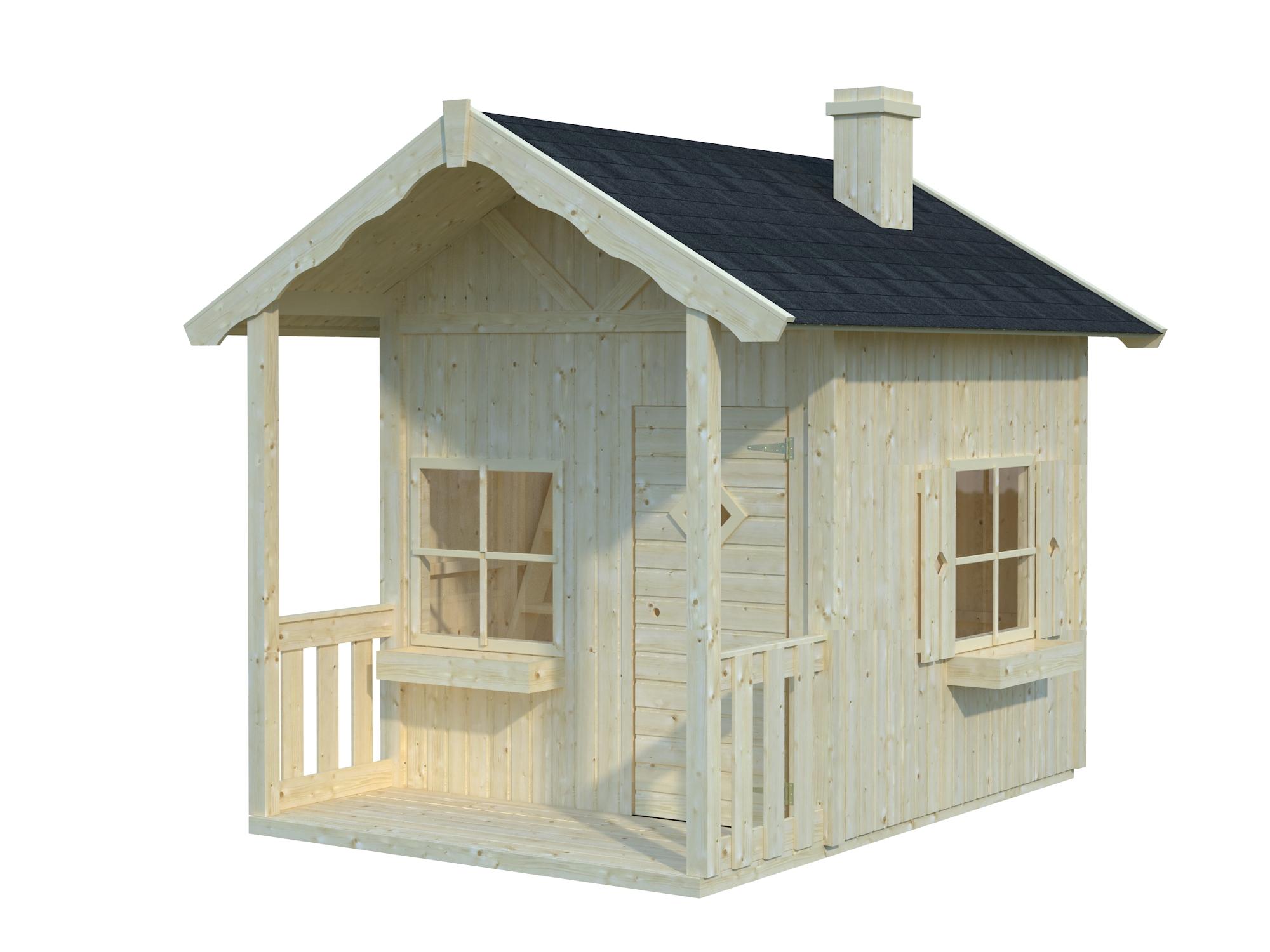 Legehus med hems og terrasse. Køb legehus i træ - trælegehuse og priser
