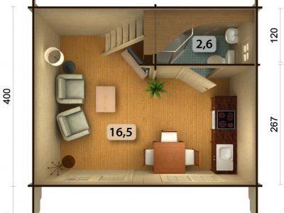 Sølund: Køb et smukt kolonihavehus med mulighed for toilet / badeværelse