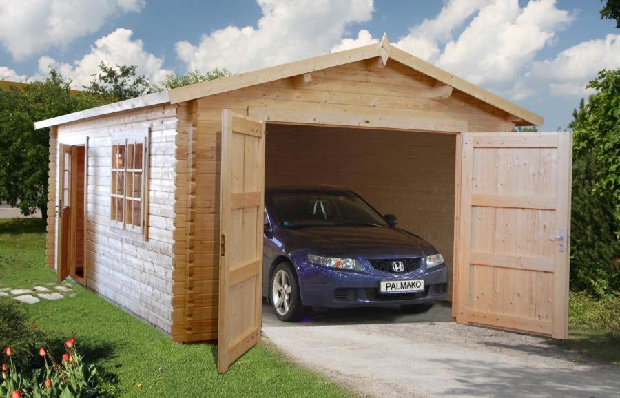 18,9 m2 selvbyg garage fra solundhuse.dk. leveres gratis og som komplet samlesæt du kan byg selv