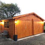 dobbelt garage i træ fra solundhuse.dk