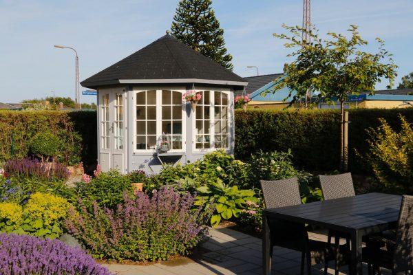 pavillon i træ fra sølundhuse.dk billede indsendt af kunde