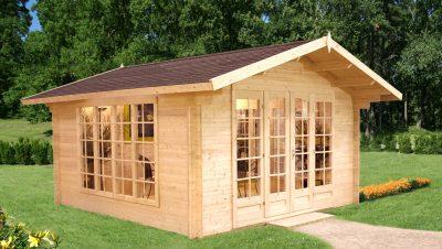 smukke havehuse i træ fra www.sølundhuse.dk dette er Irene 5 med store vinduespartier i termoglas
