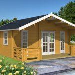 dette luksus hus på 70mm tømmer og 34m2 er perfekt som kolonihavehus, kan fåes hos solundhuse.dk