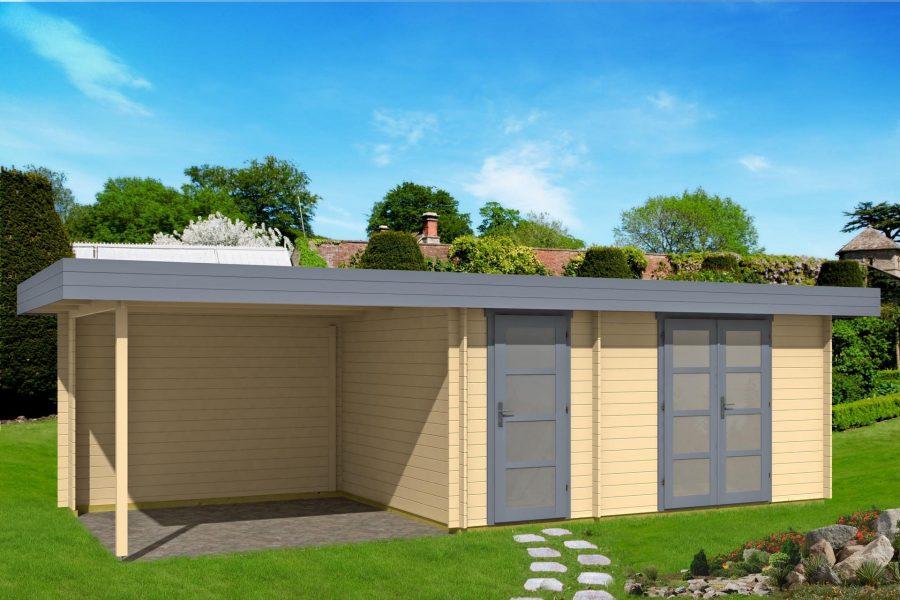 Køb redskabshus med halvtag som dette sonja 4 hus fra www.sølundhuse.dk