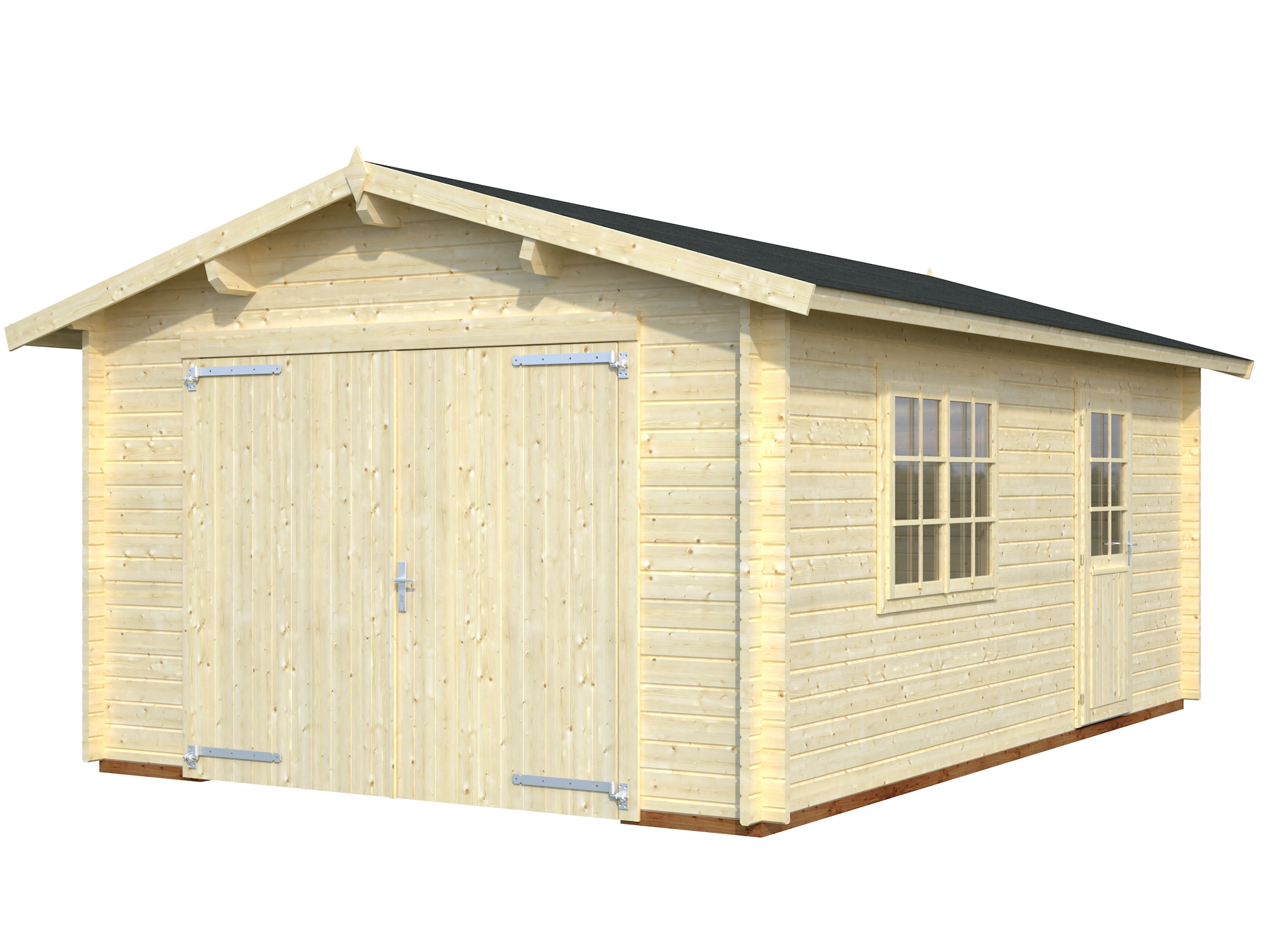 Selvbyg garage på 18,9m2   Kvalitets garage du nemt kan