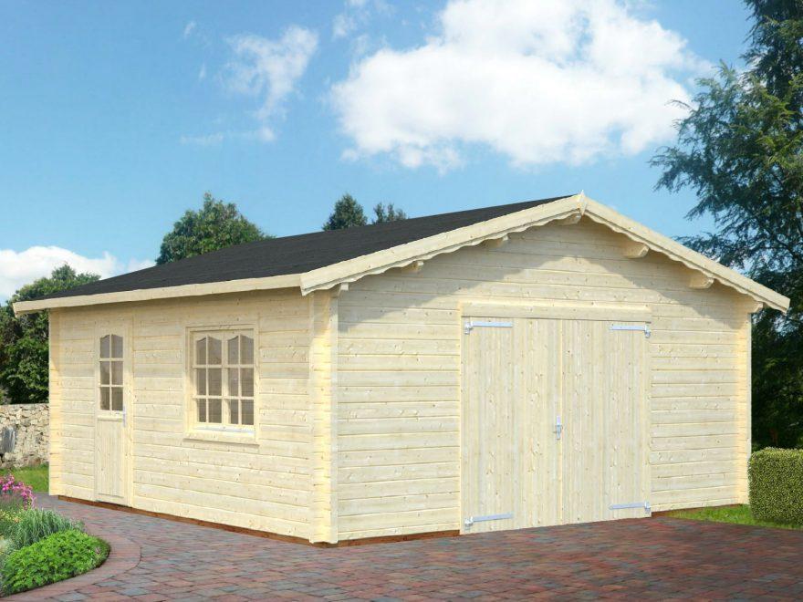 stor garage i træ fra www.sølundhuse.dk altid kvalitets garager og carporte