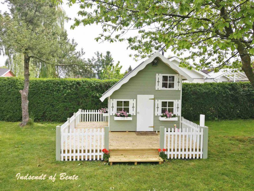Smukt legehus med hems fra www.sølundhuse.dk legehuset hedder lille marie