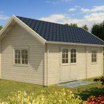Bjælkehus til haven fra sølundhuse.dk leveres som komplet byggesæt
