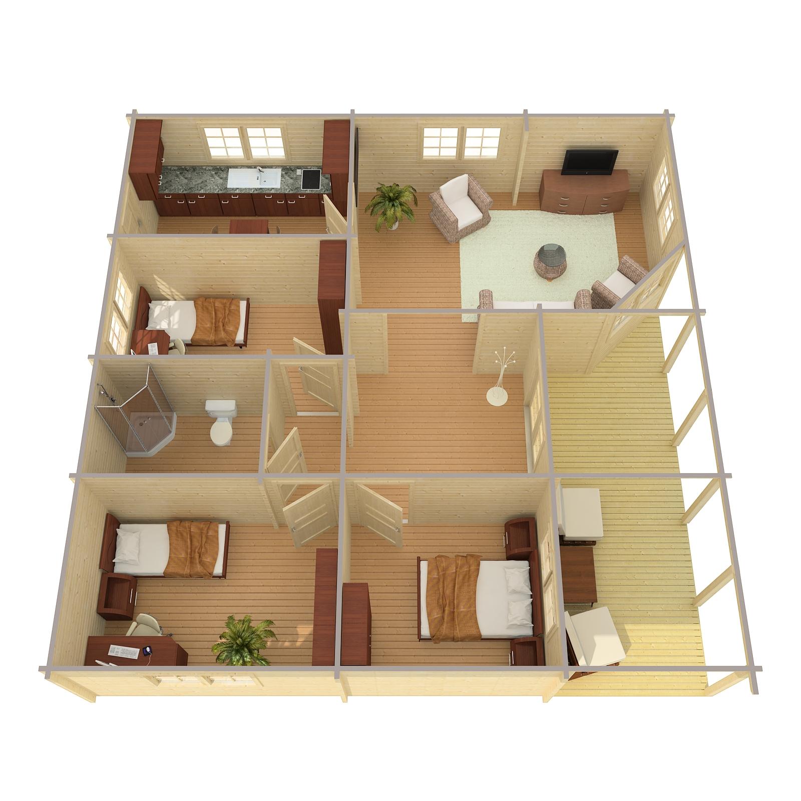 S lund huse stort udvalg af flotte annekser i h j for Planimetrie della mini casa