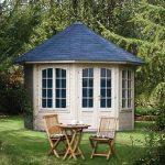 Carmen med 7 vindues partier billig pavillon i træ og med vinduer hele vejen rundt, du finder den på solundhuse.dk