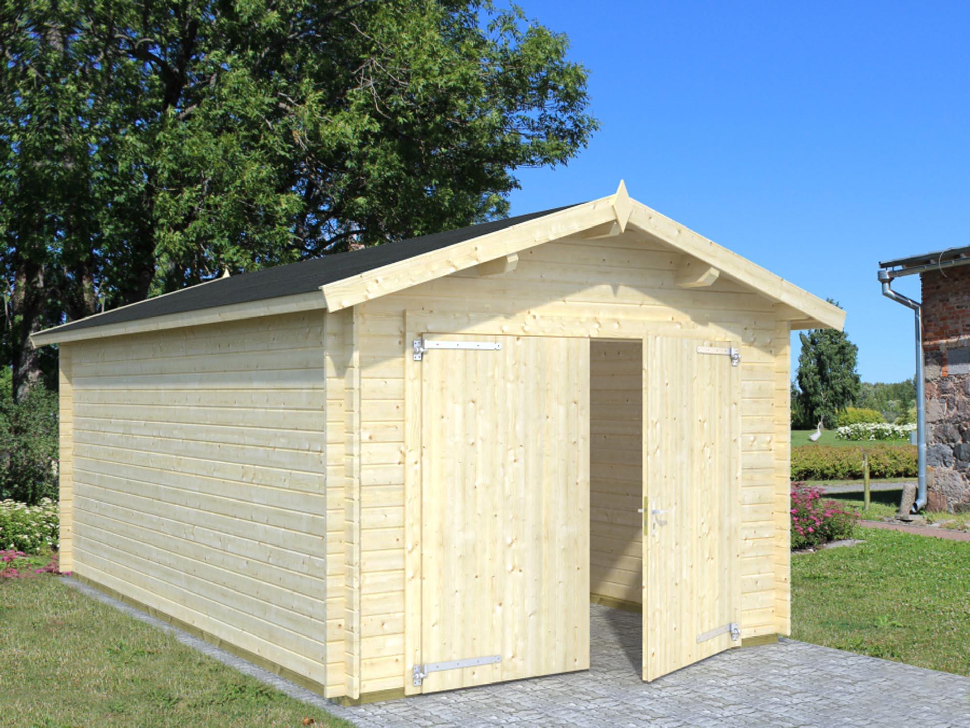 16 3 m2 garage med dobbeltd r stort udvalg af garager i tr for Garage prudhomme 16