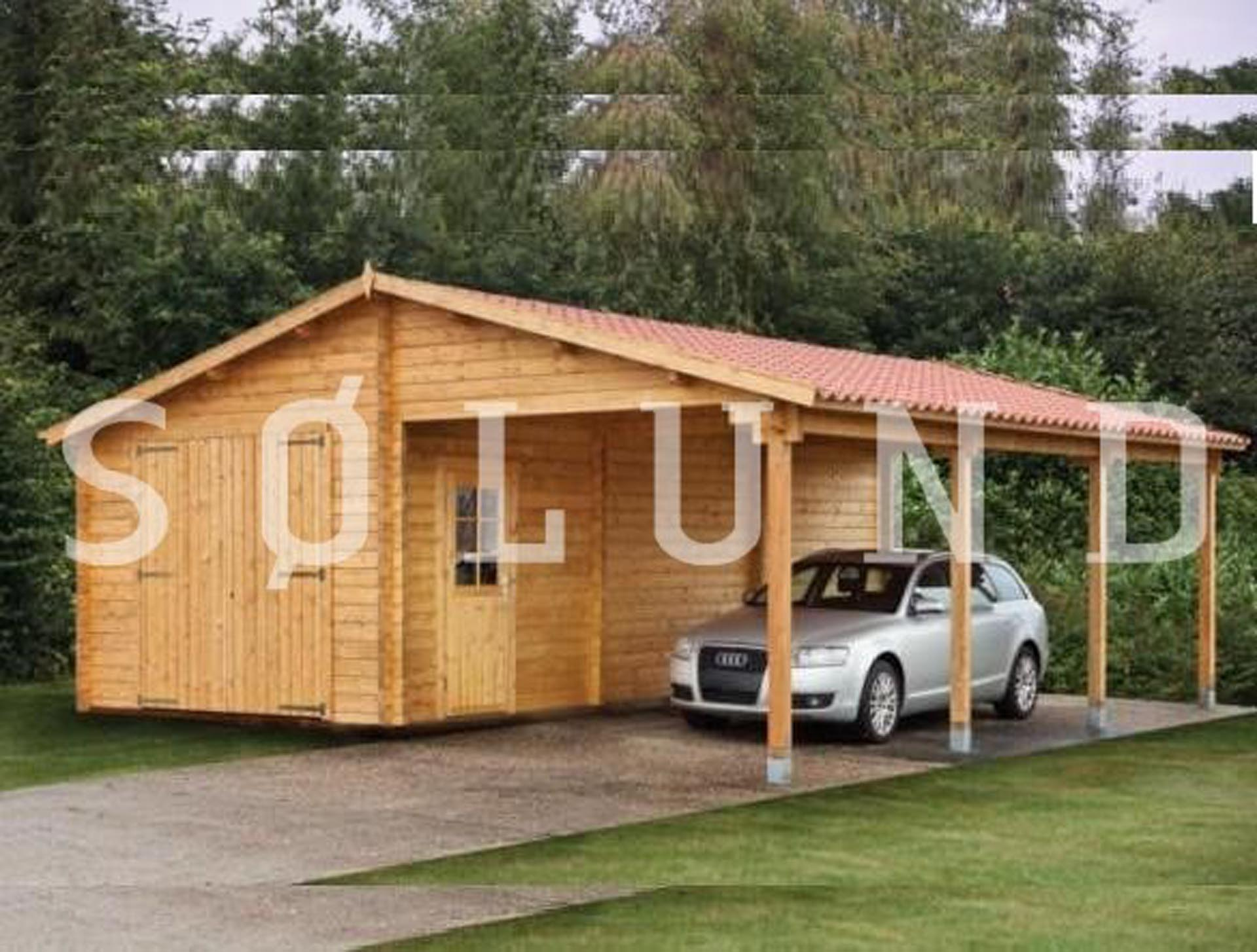 garage carport kombination flot og rummelig til en billig online pris. Black Bedroom Furniture Sets. Home Design Ideas
