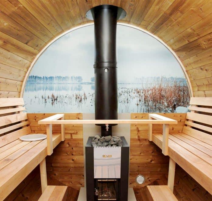 Køb sauna med glas i bagvæg eller front fra www.sølundhuse.dk
