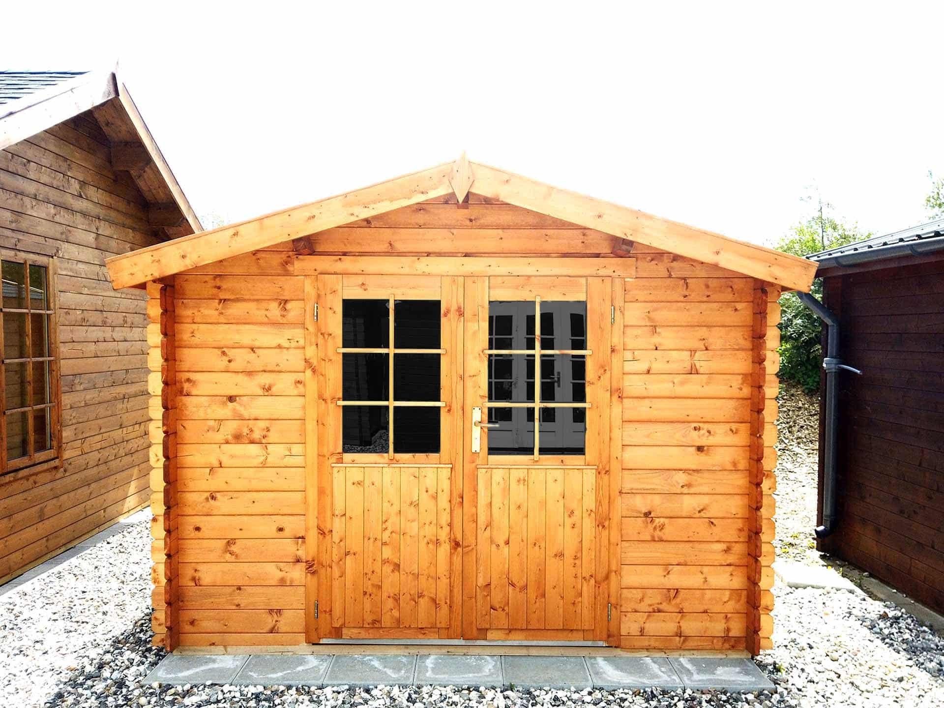 10 m2 skur til haven i træ fra www.sølundhuse.dk