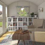 Lisa 8,6 m2 udekontor set indefra - Sølund Huse