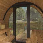 sauna til haven med glas fra sølund huse