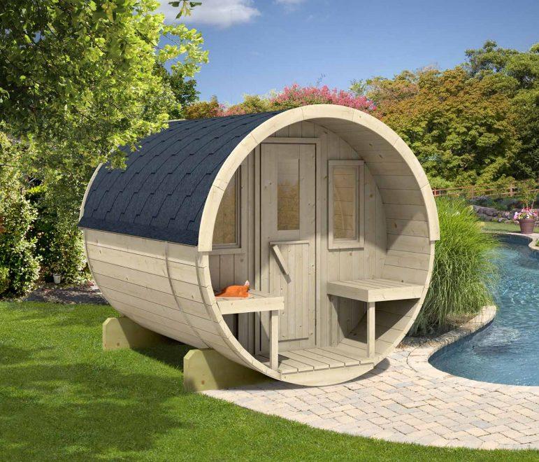 sauna til haven