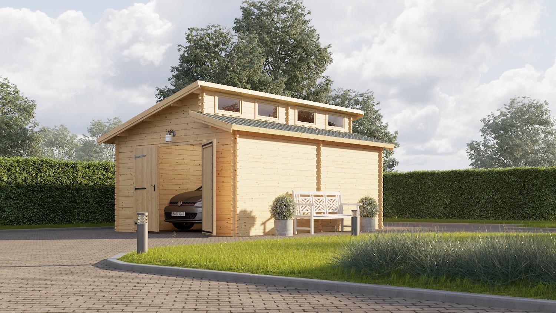 garage tilbud morderne 19 m2 garage i tr. Black Bedroom Furniture Sets. Home Design Ideas