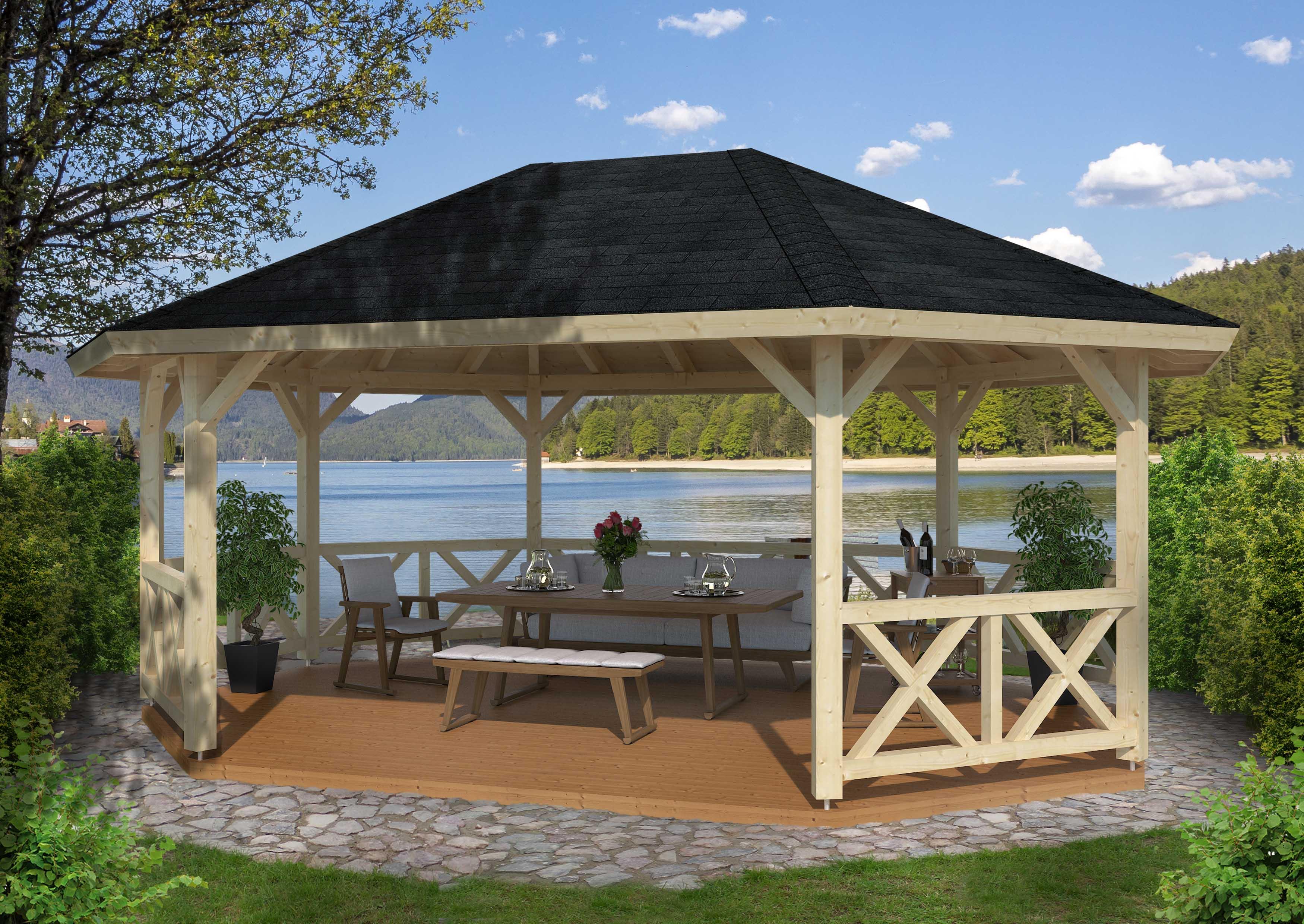 betty 25 0 m2 ben pavillon i tr se vores store udvalg af pavilloner. Black Bedroom Furniture Sets. Home Design Ideas