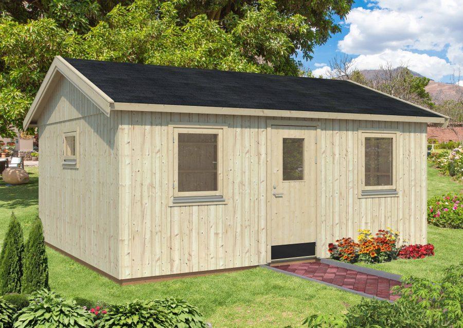 Tanja 6 Modul anneks med plads til familien med 3 vinduer og 1 dør