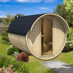 Tønde sauna til haven eller terrassen fra sølundhuse.dk