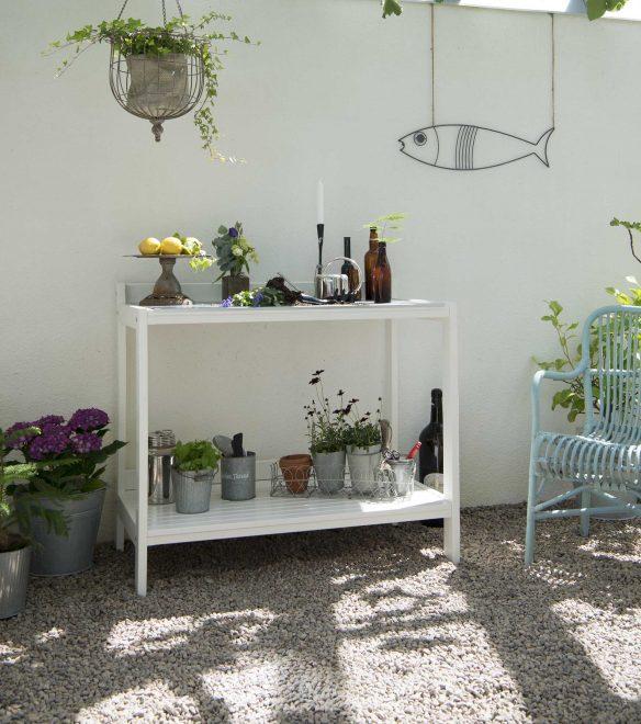 udendørs arbejdsbord i træ fra Sølund Huse