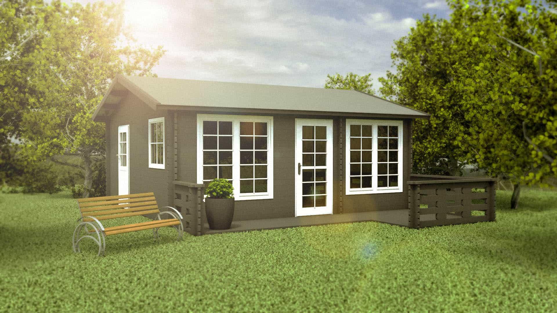 aida anneks på 28,8 m2 med terrasse såkøb kolonihavehus hos sølundhuse.dk