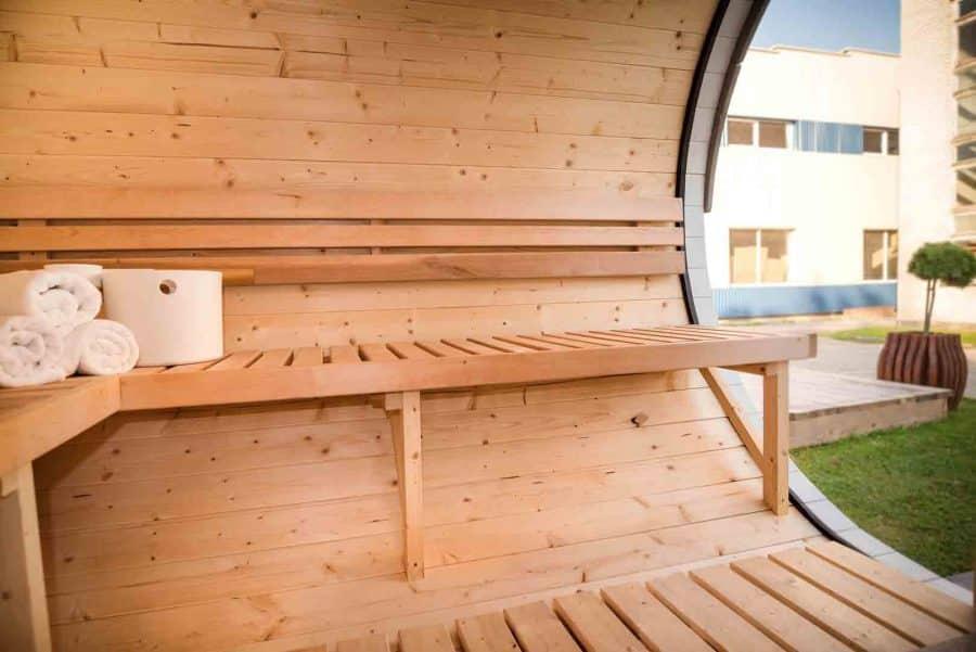 sølund sauna set indefra.