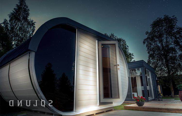 Luksus sauna hytte fra sølundhuse.dk sælges både til erhverv og private