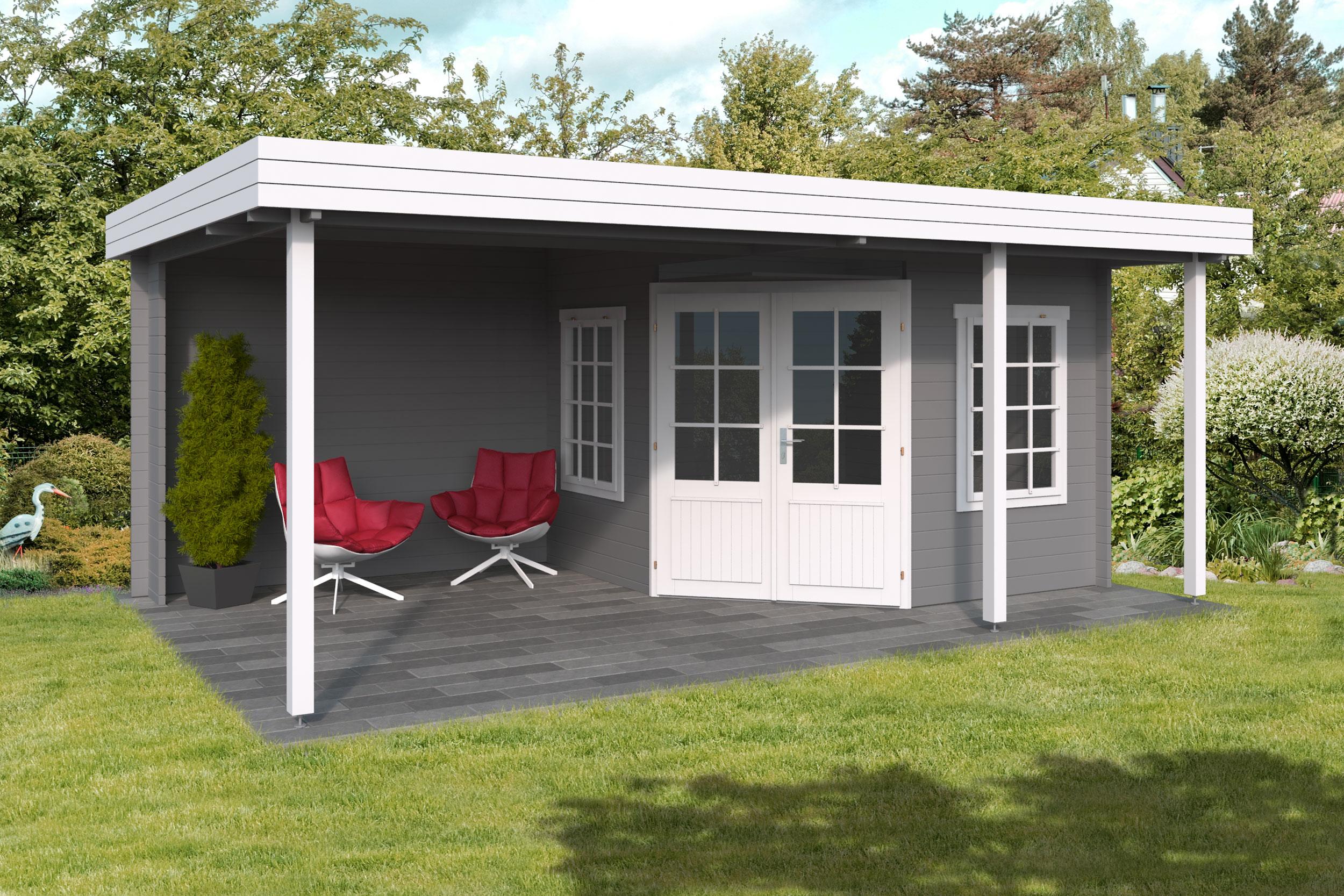 Lotte 3 pavillon af træ kan købes hos www.sølundhuse.dk designet til at kunne stå i skel