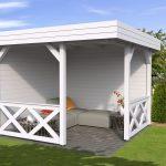 halvåben 3x3 havepavillon i træ fra www.solundhuse.dk