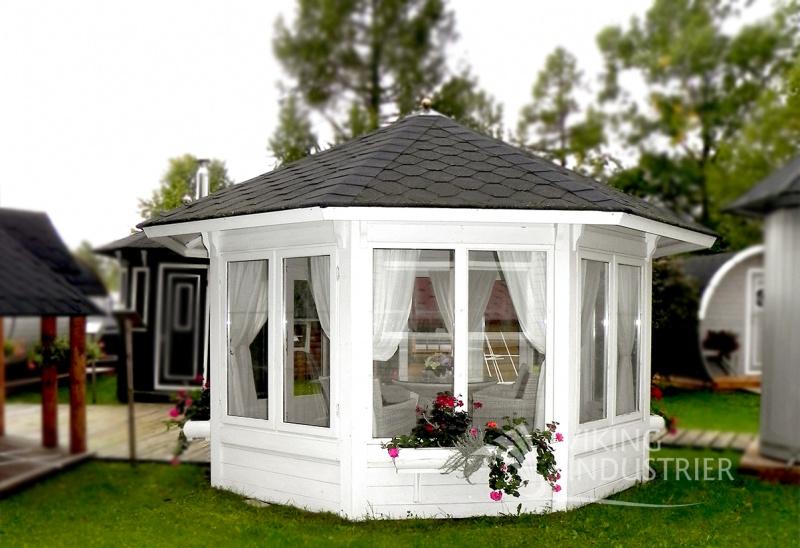 Helen 10 m2 pavillon i træ fra www.sølundhuse.dk