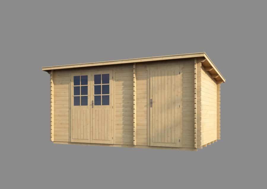Ubehandlet skur i træ med to rum fra www.sølundhuse.dk