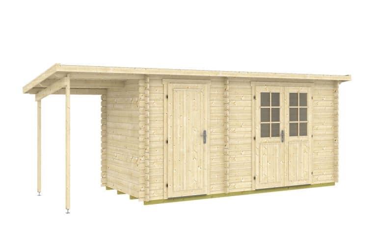 Sensationelle 15,5 m2 træskur med to rum | Se priser og tilbud hos Sølund Huse LQ68