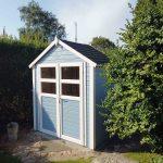 lille haveskur i træ sælges i hele elementer og kan købes hos www.sølundhuse.dk