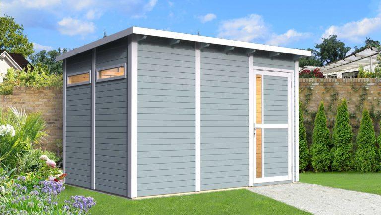 Pæn Køb 7,9 m2 haveskur i træ | Et billigt haveskur i flot design CG08