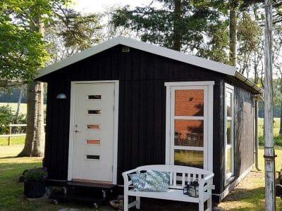 Et rigtigt byg selv gæstehus, som du kan finde på www.sølundhuse.dk