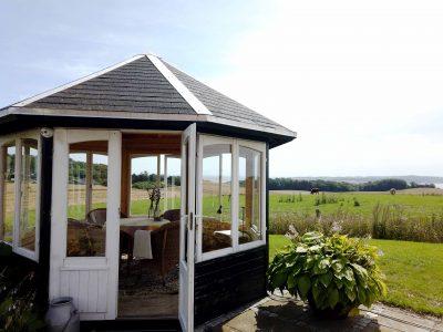 pavillon i træ fra www.solundhuse.dk billedet er indsendt af Ulla
